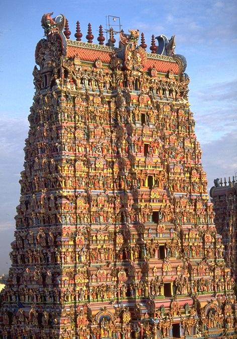 Gopuram templo de meenakshi