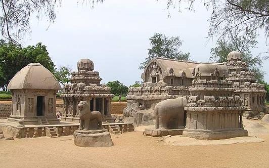 Cinco Rathas Mahabalipuram