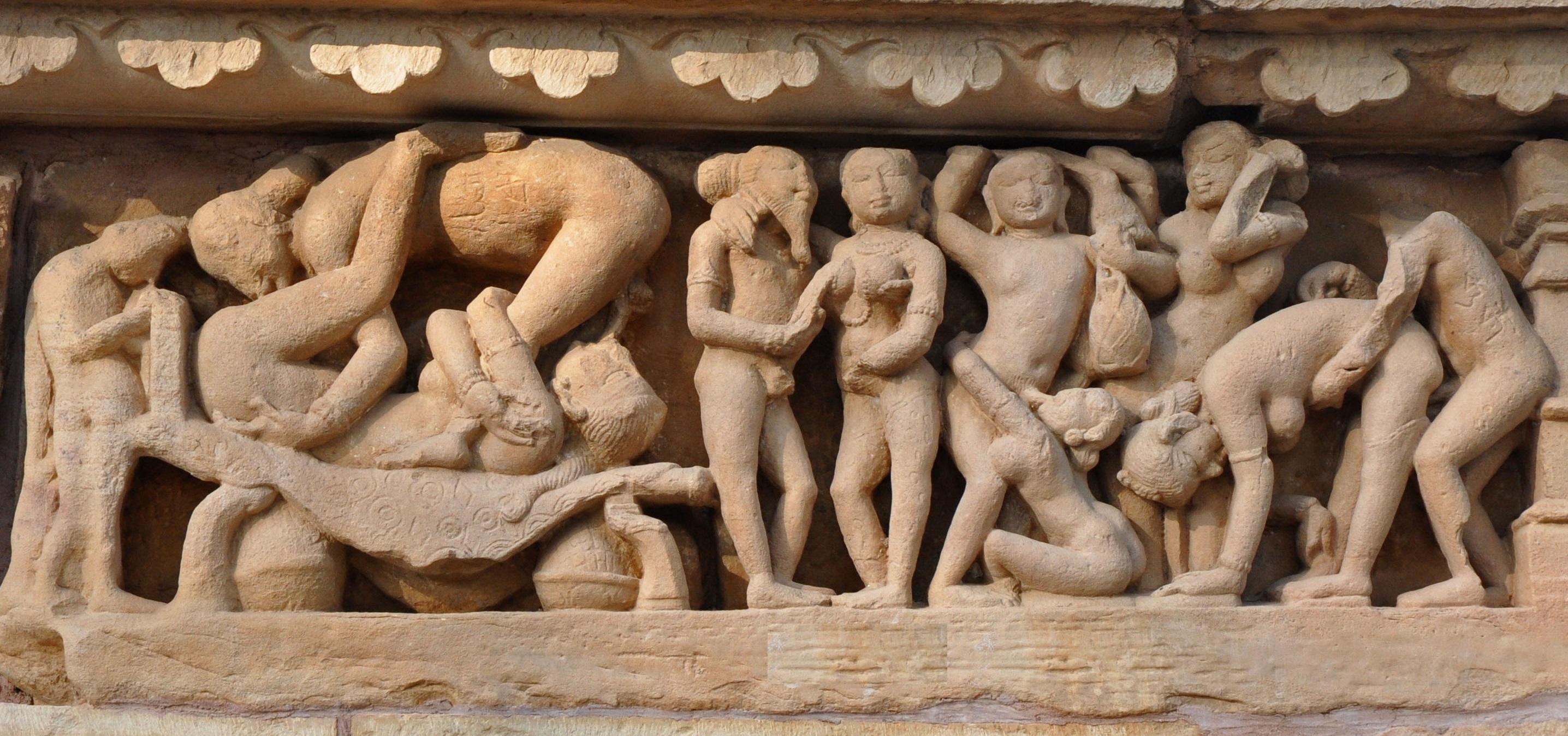 Figuras en Khajuraho