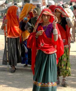 Mujer Rajastani tradicional