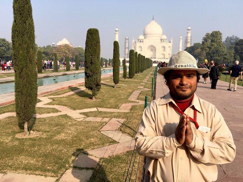 Yo en Taj Mahal