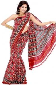 Sari India bordada