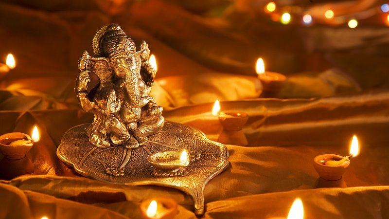 Ganesha en Diwali