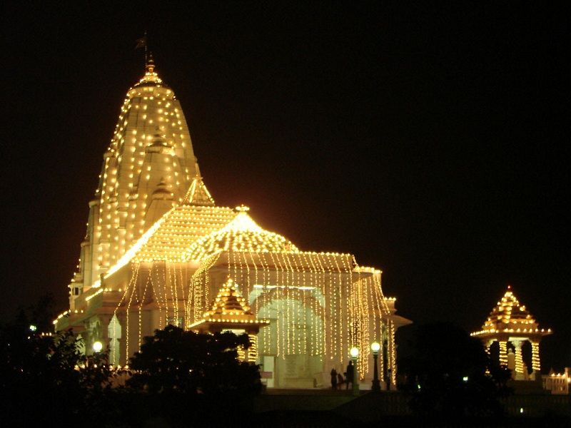 Laxminarayan templo jaipur diwali