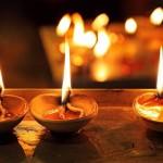 Luz tradicional en diwali