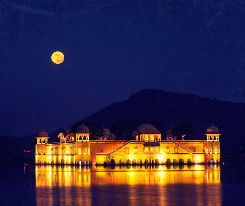 Palacios ilumina en diwali Jaipur