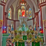 Celebracion de navidad en Pondicherry