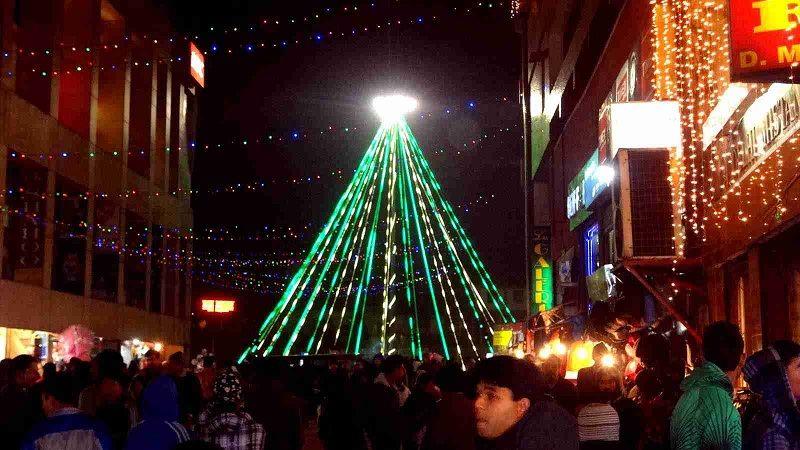 Celebracion de navidad en Shillong