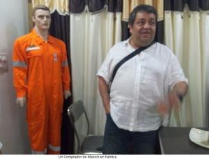 Un comprador de Mexico en fabrica